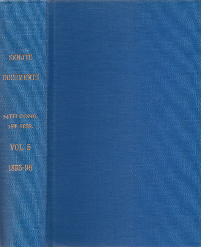 Reports of Agents, Officers, and Persons, acting under the authority of the secretary of the treasury, in relation to the Condition of Seal Life on the Rookeries of the Pribilof Islands, and to Pelagic Sealing in Bering Sea and the North Pacific Ocean, in The Years 1893-1895. In Two Parts, Part 1 & II. [With maps and illustrations. Results of investigations under the direction of the U.S. Commissioner of Fish and Fisheries]. UNITED STATES. Senate.