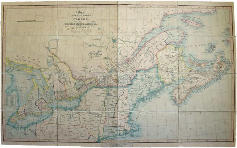 Map of Upper and Lower Canada, or British North America, with the Adjacent States. J. WYLD, ames.