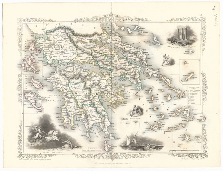 GREECE. The Illustrations by A.H. Wray & Engraved by J.B. Allen. MAP - TALLIS.