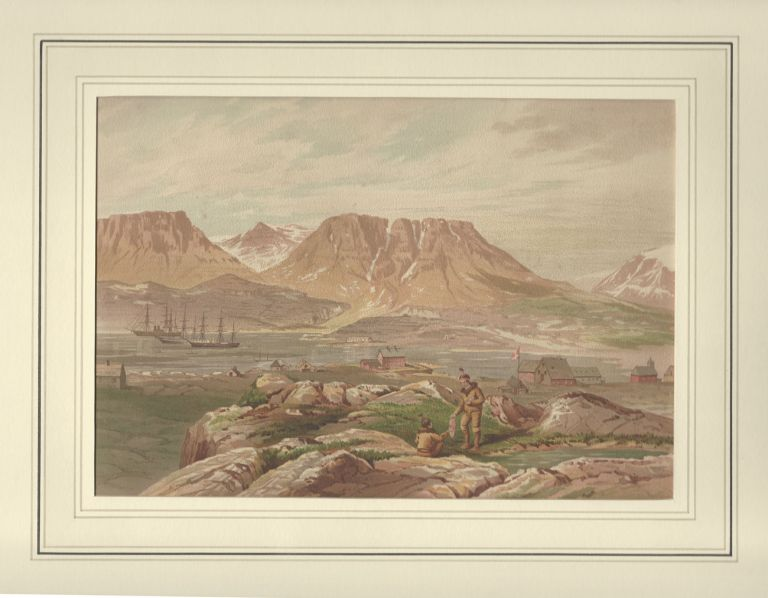 [From]. Shores of The Polar Sea. A Narrative of The Arctic Expedition of 1875-6. Illustrated by Sixteen Chromo-lithographs and numerous Engravings. Edward L. - Sixteen Chromolitho Plates MOSS.