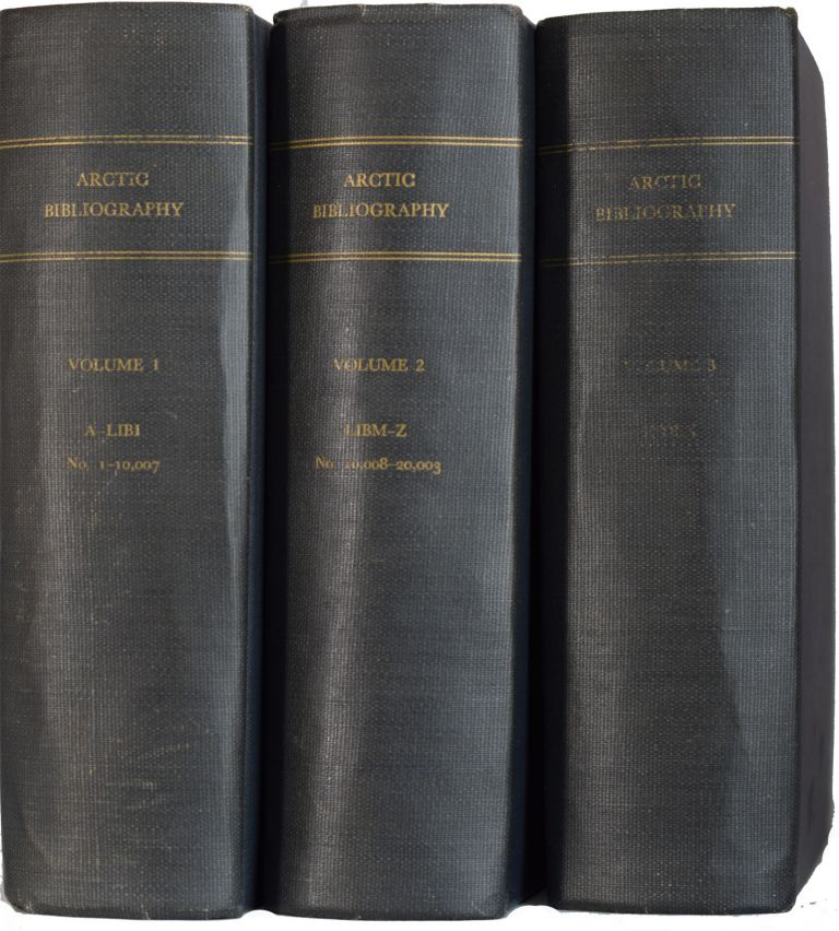 Arctic Bibliography. Prepared for and in cooperation with the Department of Defence under the direction of the Arctic Institute of North America. Marie TREMAINE.