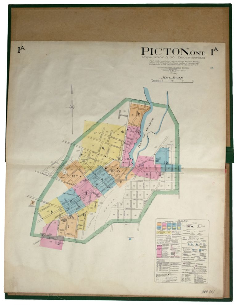Insurance Plan of the Town of] Picton, Ont. Population 3,100. December 1924. Ontario GOAD ATLAS. Picton, Charles E.