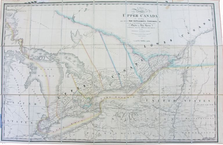 A Map of the Province of Upper Canada, describing all the New Settlements, Townships, &c, with the Countries Adjacent from Quebec to Lake Huron. Compiled from the Original Documents in the Surveyor General's Office. James WYLD.