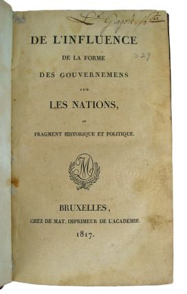 L'Exemple de la France avis a la Grande Bretagne. Second Edition.