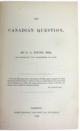 The Canadian Question. G. A. YOUNG