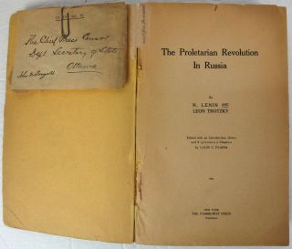 The Proletarian Revolution In Russia. Edited, with an Introduction and Supplementary Chapters, by Louis C. Fraina.