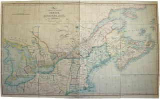 Map of Upper and Lower Canada, or British North America, with the Adjacent States. J. WYLD, ames