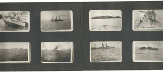 """ROYAL NAVY. Three albums of personal photographs taken by Sub. Lieutenant P.C. Amos, Royal Navy from 1916 to 1919 during service at Portsmouth and Le Havre, France. - 1. - """"Portsmouth & M.L. 205"""" (47 photos)."""