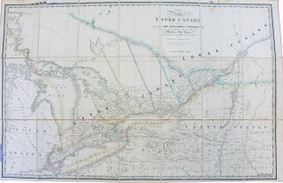A Map of the Province of Upper Canada, describing all the New Settlements, Townships, &c, with...